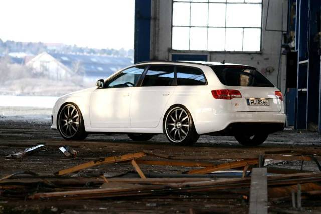 Audi rs6 white power hinten