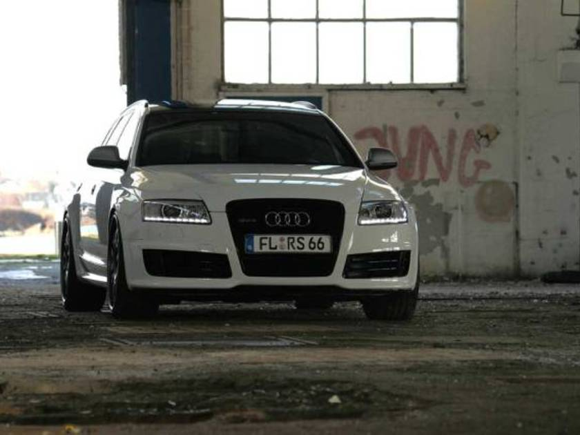 Audi rs6 white power vorne