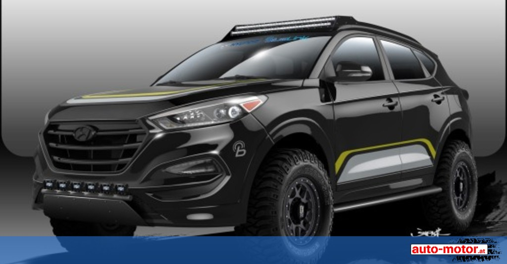 tuning hyundai offroad tucson auf der sema auto motor. Black Bedroom Furniture Sets. Home Design Ideas