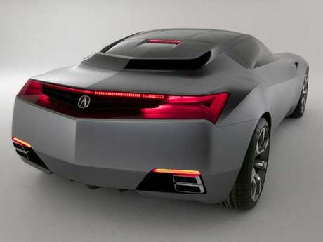 Acura sports car concept hinten