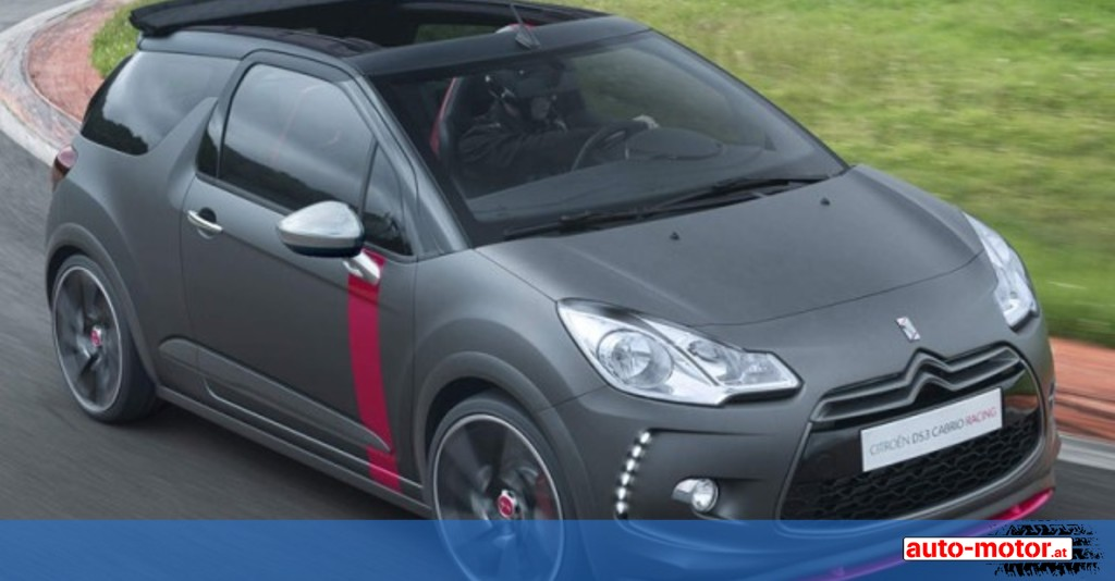 citroen ds3 cabrio racing concept auto. Black Bedroom Furniture Sets. Home Design Ideas