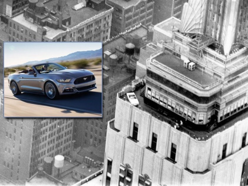 Ford feiert 50 jahre mustang empire state building 001