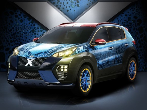 Kia Sportage im X-Men-Design