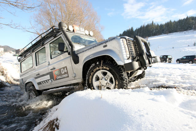 Land rover winter driving 2