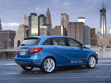 Premiere new york mercedes b klasse electric drive 007