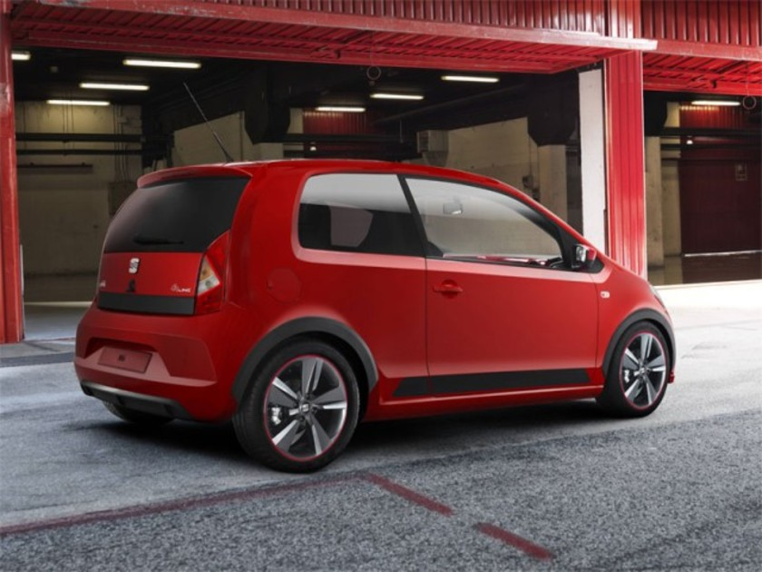 seat mii fr concept am pariser autosalon auto. Black Bedroom Furniture Sets. Home Design Ideas