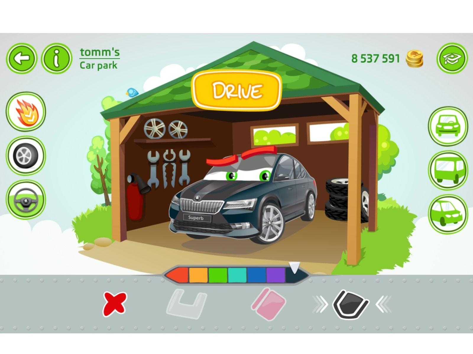 foto skoda littledriver app cooles cruisen fuer kids tablet vom artikel skoda. Black Bedroom Furniture Sets. Home Design Ideas