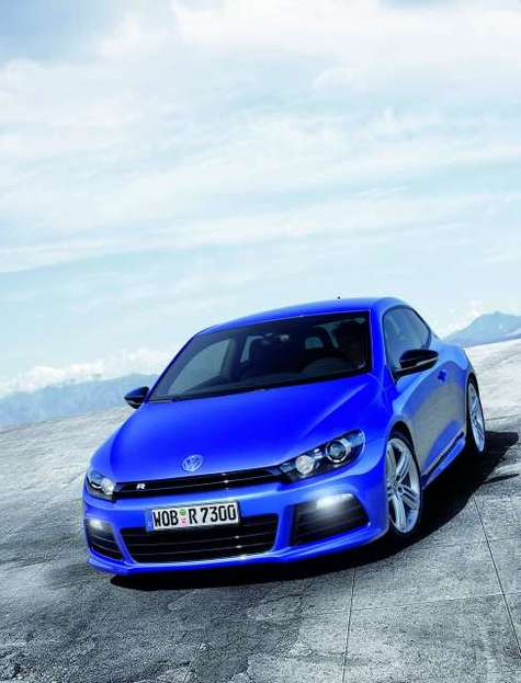 Vw scirocco r weltpremiere front