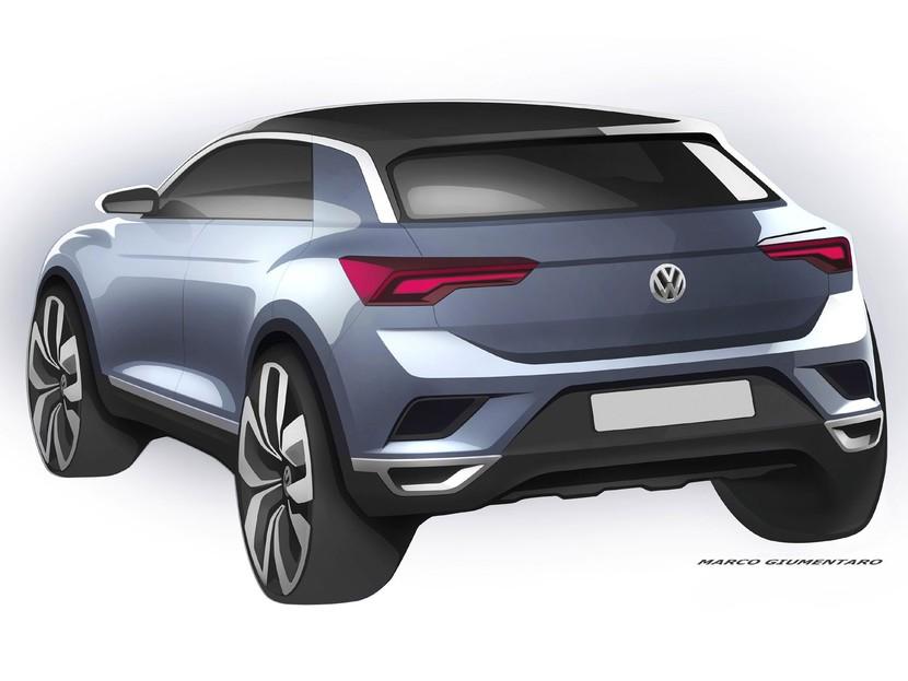 Erste Skizzen: Der neue VW T-ROC ::: auto-motor.at :::