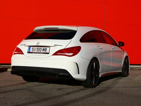 Mercedes cla 45 amg 4matic shooting brake testbericht 011