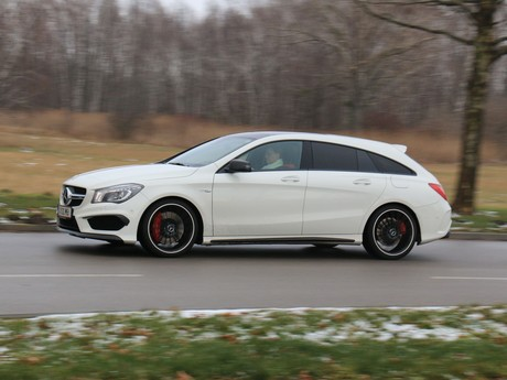 Mercedes cla 45 amg 4matic shooting brake testbericht 012