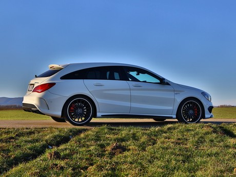 Mercedes cla 45 amg 4matic shooting brake testbericht 025