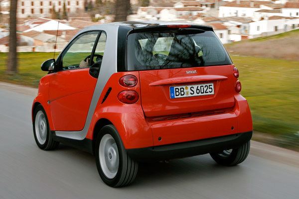 Smart fortwo test coupe hinten