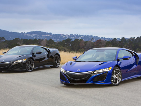 Acura NSX in Black and Blue