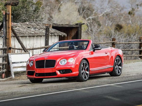 Bentley Continental GT V8 Cabrio Red