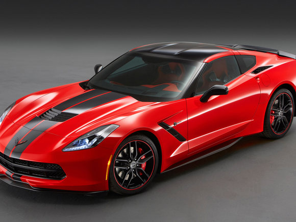 Corvette Stingray im Pacific Design