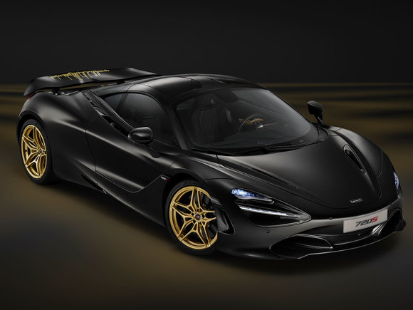 McLaren 720S Satin Black and Gold Edition