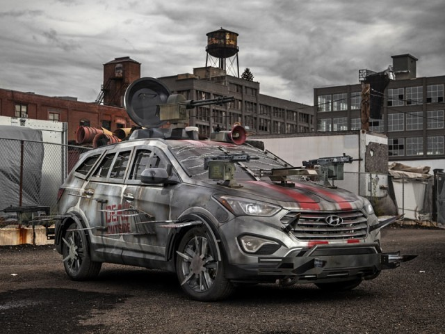 Hyundai santa fe zombie survival machine 001