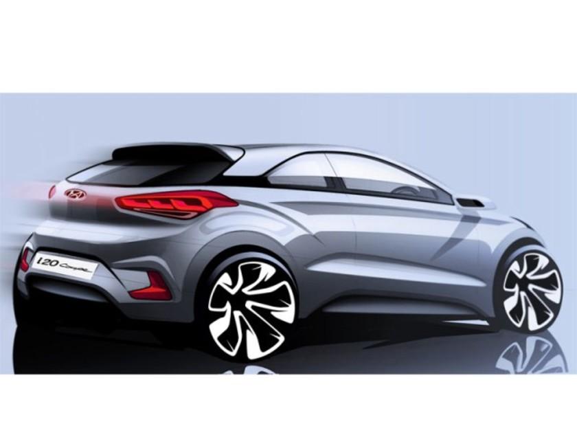 Erste Skizze: Der neue Hyundai i20 Coupé ::: auto-motor.at :::