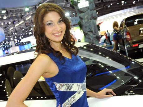 Moskau Autoshow Girls Fotos