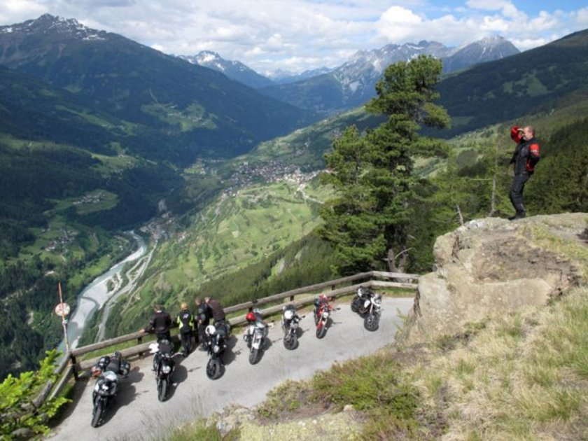 Top of the Mountain Biker Summit in Ischgl