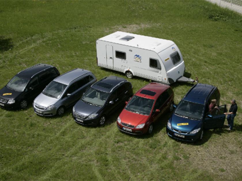 minivans im test als zugfahrzeug f r wohnwagen auto. Black Bedroom Furniture Sets. Home Design Ideas